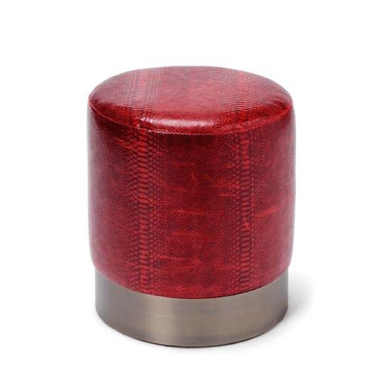 Lune c leather stool 2