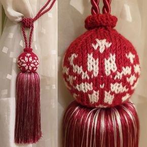 Red Ball Tassel Tieback