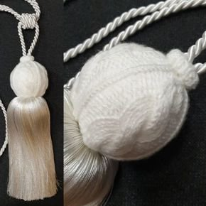 White Ball Tassel Tieback