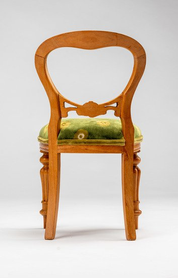 Extremely rare and delightful child's size vintage salesman sample chair rhubarbchairs treniq 1 1575488651370