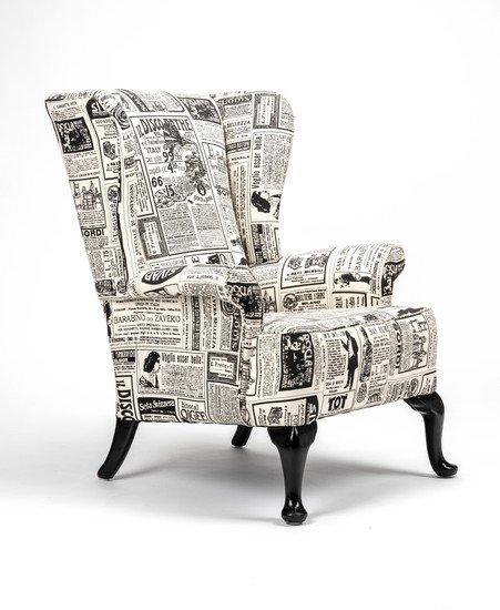 The 'old news%22 wingchair. rhubarbchairs treniq 1 1575502377808