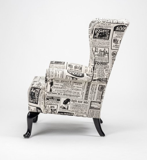 The 'old news%22 wingchair. rhubarbchairs treniq 1 1575502392750