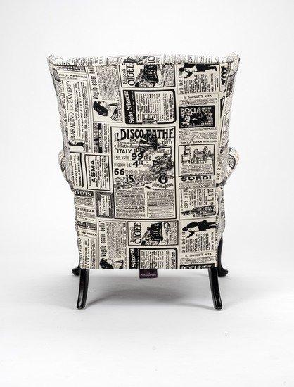 The 'old news%22 wingchair. rhubarbchairs treniq 1 1575502397743