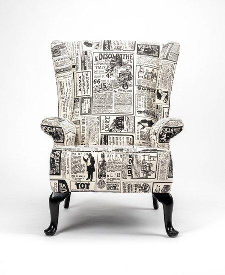 The 'old news%22 wingchair. rhubarbchairs treniq 1 1575502474332