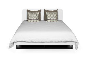 Mara-Bed-160-Rounded-Headboard-In-White/Black-Legs-(W/Slats)_Tema-Home_Treniq_0