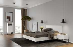 Mara-Bed-180-Rectangular-Headboard-In-White/-Black-Legs-(W/-Slats)_Tema-Home_Treniq_0