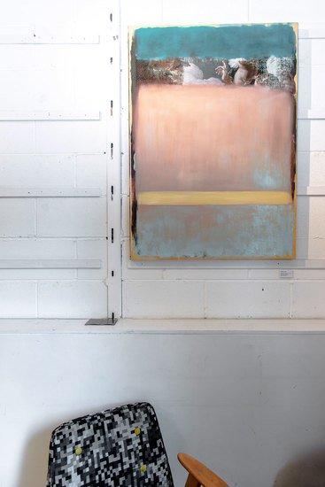 Pointing the blue (original mixed media painting) mineheart treniq 1 1576477567614