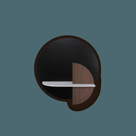 Alba m modular wall shelf black circle walnut sun