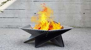 Cross Tan Outdoor Fire Pit