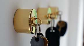 Pure Brass Key Holder And Fob