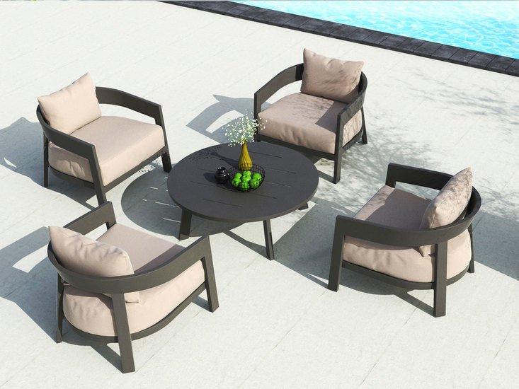 Vento aluminium round coffee table triconville treniq 1 1580967656863