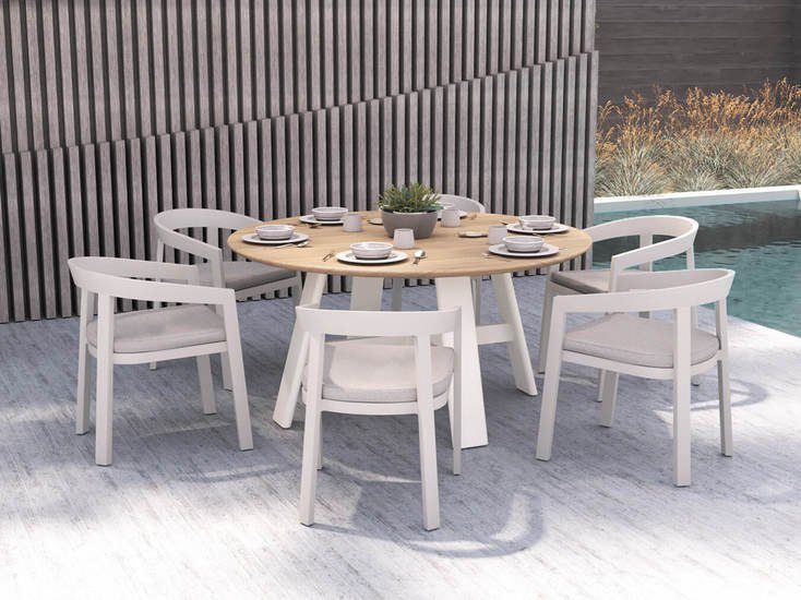 Vento aluminium round coffee table triconville treniq 1 1580967656864