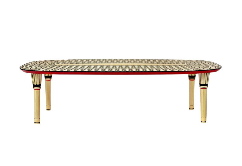 Aelita dining table scarlet splendour treniq 2