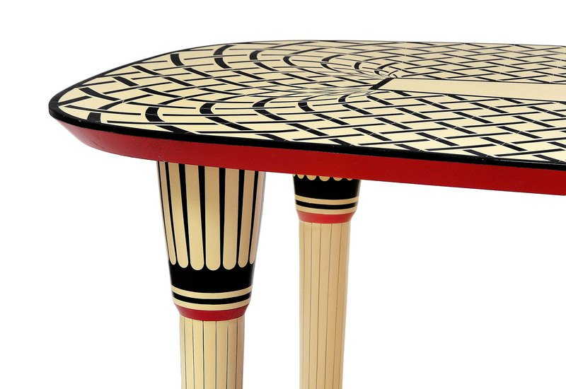 Aelita dining table scarlet splendour treniq 5