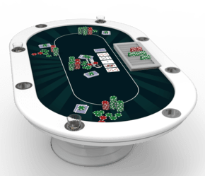 Vegas Oval Poker Table