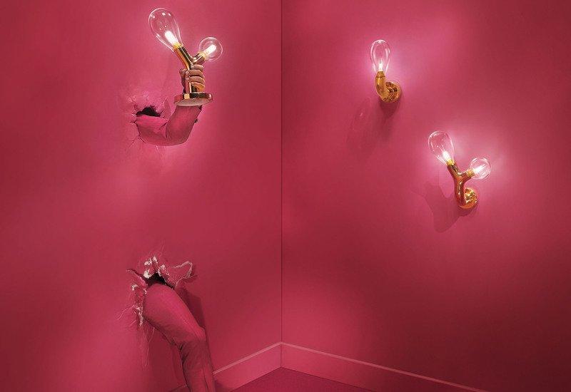 The double bulb wall light scarlet splendour treniq 5