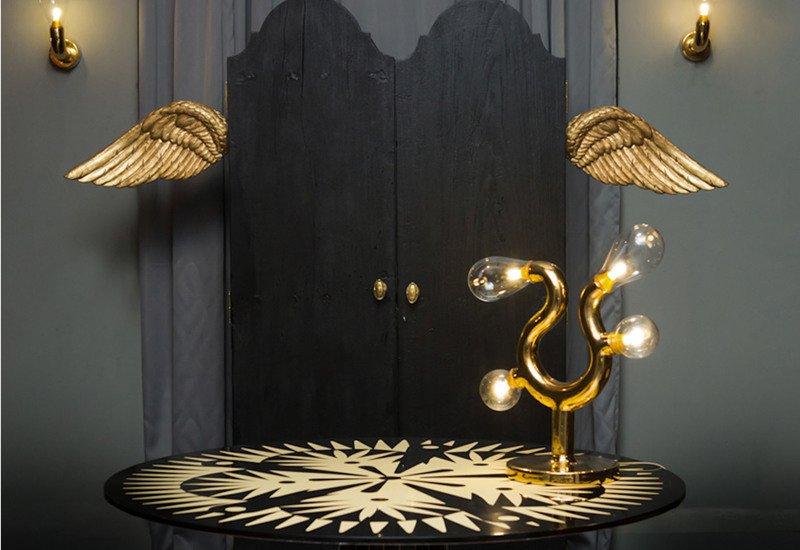 The four bulb table lamp scarlet splendour treniq 5