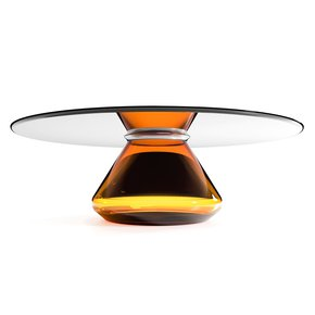 Amber-Eclipse-Contemporary-Center-Table-Ft.-Blown-Glass-Base-&-Glass-Top_Mgm-Project_Treniq_0