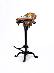 The-One-Off-'harley-Bobber'-Hand-Painted-Bikers-Leather-Bar-Stool_Rhubarb-Chairs_Treniq_0