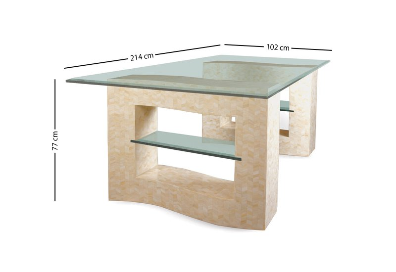 Creme dining table farrago treniq 5