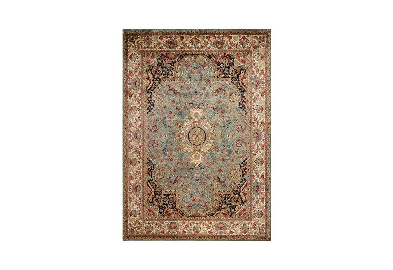 Golden age jewel blue ivory rug samad rugs treniq 1