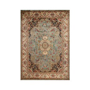 Golden Age Jewel Blue Ivory Rug - Samad Rugs - Treniq