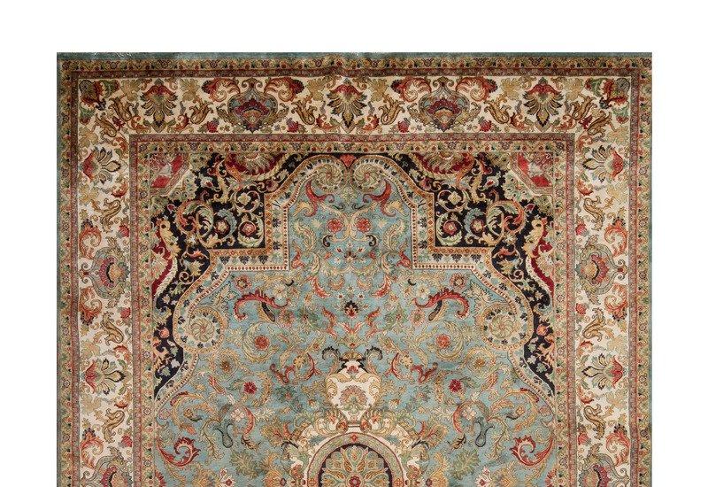 Golden age jewel blue ivory rug samad rugs treniq 2