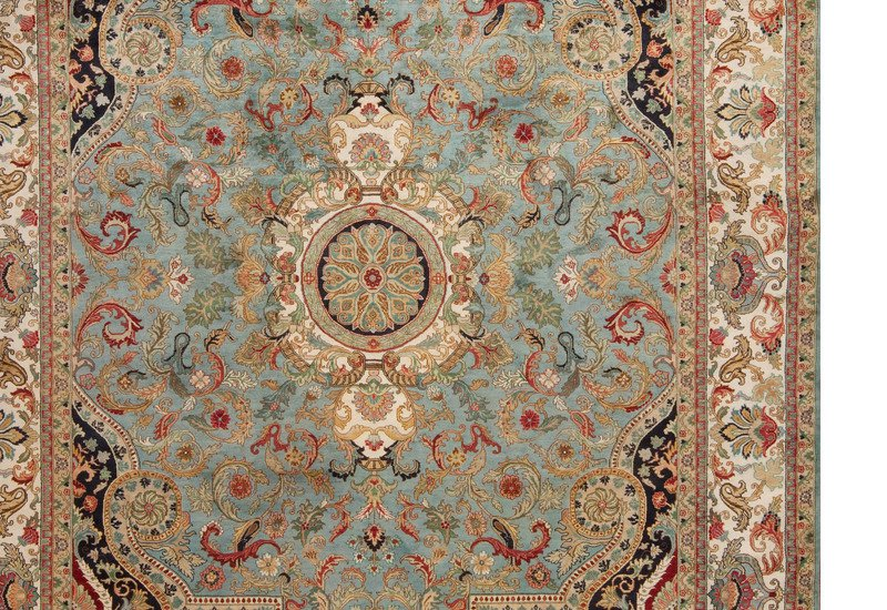 Golden age jewel blue ivory rug samad rugs treniq 4