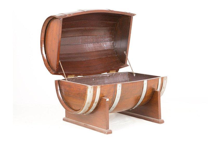 Oak drum table anemos treniq 1