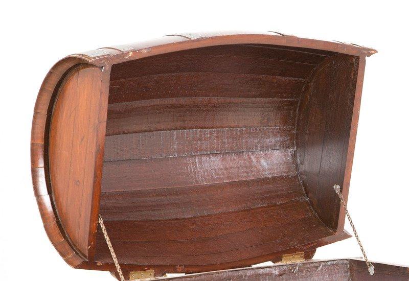Oak drum table anemos treniq 3