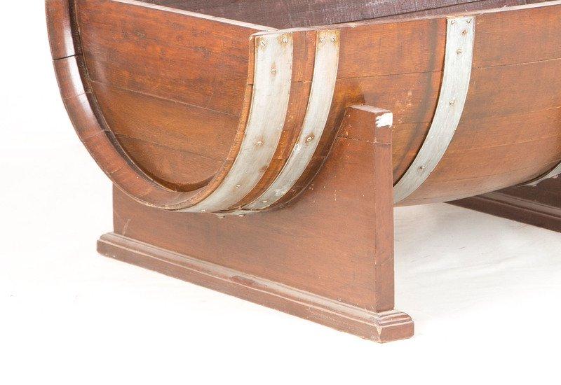 Oak drum table anemos treniq 4