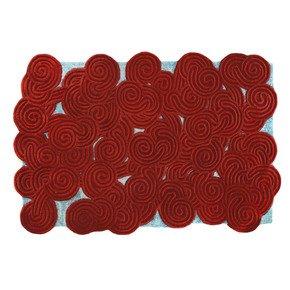 Berry Ocean Rectangular Rug - Scarlet Splendour - Treniq