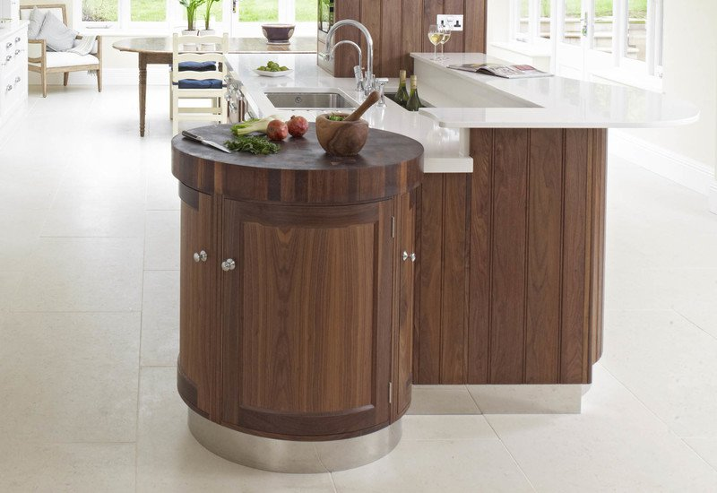 Contemporary painted   walnut rencraft treniq 2