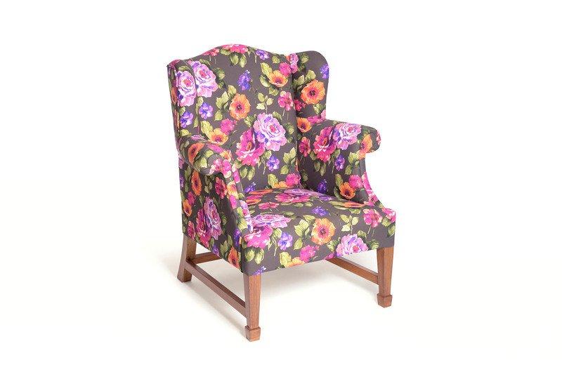 Daisy floral squash armchair limon design treniq 1