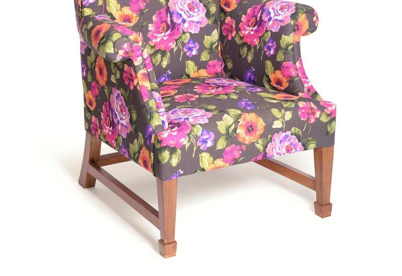 Daisy floral squash armchair limon design treniq 4