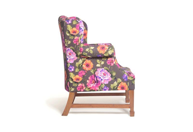 Daisy floral squash armchair limon design treniq 6