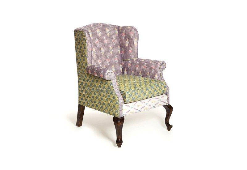 the tobias wingback ikat grey version english or victorian by lim n rh treniq com Modern Arm Chair Green Arm Chair