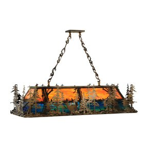 Billiard Rustic Oblong Pendant Lamp - Smashing - Treniq