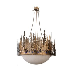 Rustic Lodge Inverted Pendant Lamp I - Smashing - Treniq