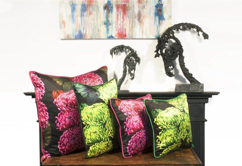 Chrysanths nuit cushion lux   bloom treniq 6