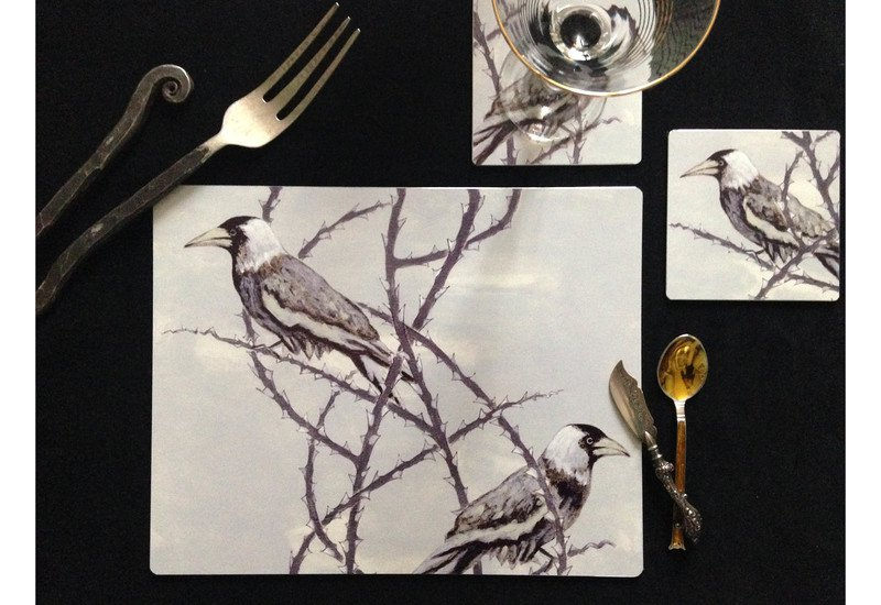 Crow patrol metal tableware lux   bloom treniq 1