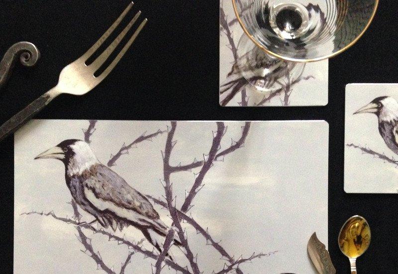 Crow patrol metal tableware lux   bloom treniq 2