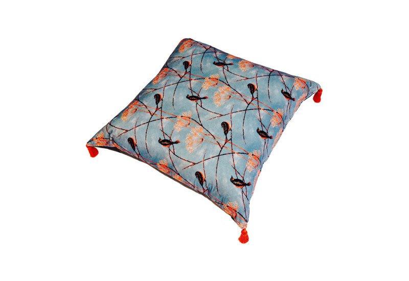 Little finches cushion lux   bloom treniq 1