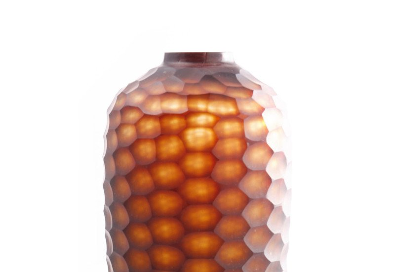 Brown honey comb pattern vase inventrik enterprise treniq 2