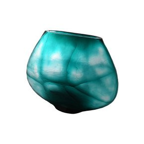 Turquoise Transparent Vase Small - Inventrik Enterprise - Treniq