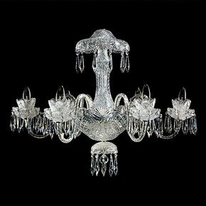 Eloise 6 Arm Single Tier Chandelier - Waterford Made Chandeliers - Treniq