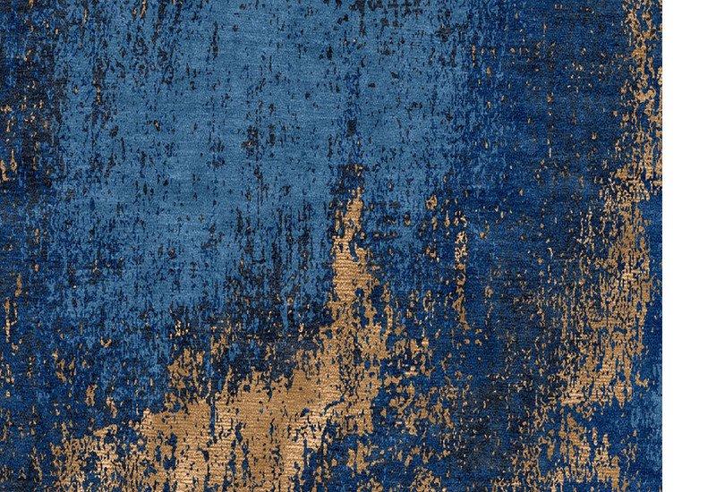 Washed denim blue and copper rug bazaar valvet treniq 4