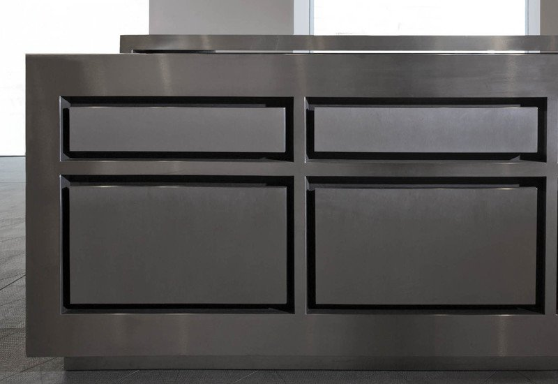 Semplice matt stainless steel and wenge wood kitchen strato treniq 2