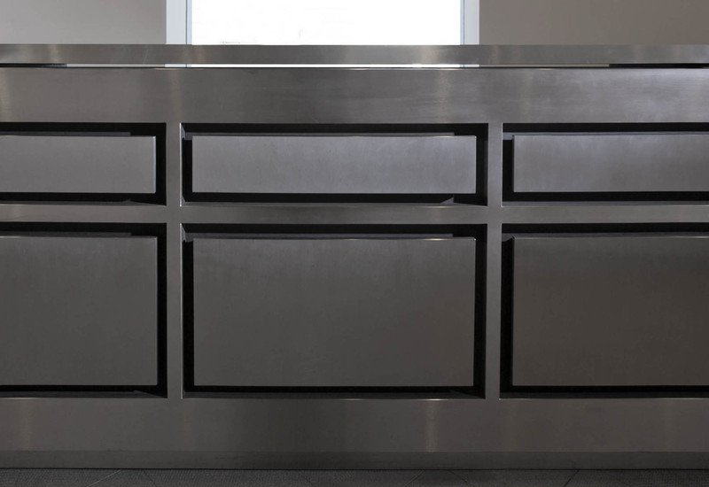 Semplice matt stainless steel and wenge wood kitchen strato treniq 3
