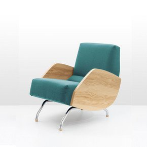 R 360 Woo Retro Armchair Chair - Politura Design - Treniq